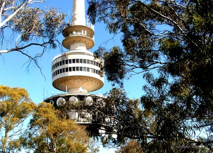 Telstra Tower at the top of Black Mountain, Canberra