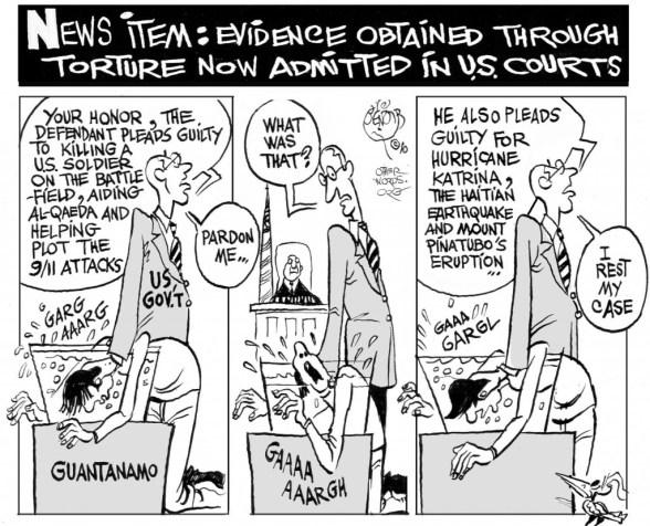 Tortured Evidence cartoon