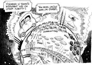 Broken Planet, an OtherWords cartoon by Khalil Bendib