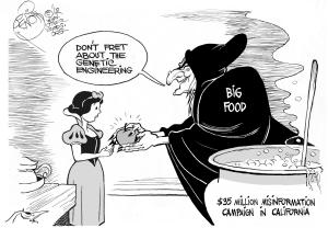 Poisoned Apple, 2012, an OtherWords cartoon by Khalil Bendib