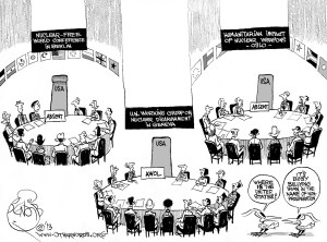 Washington Goes AWOL, an OtherWords cartoon by Khalil Bendib