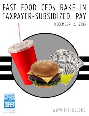 Fast Food Giants Gorge on Subsidies