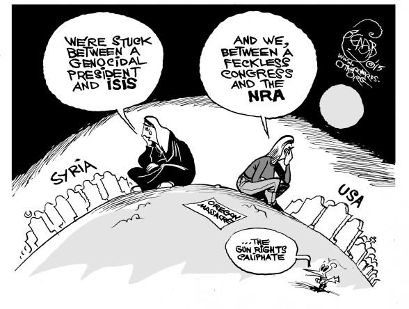 guns isis syria oregon gun control