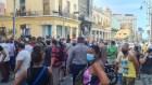 Cubans protest food and medicine shortages in Havana.