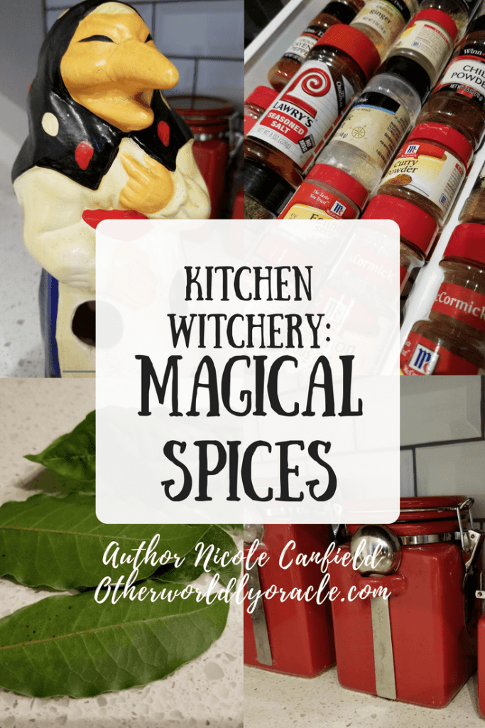 The kitchen witch uses many magical spices.