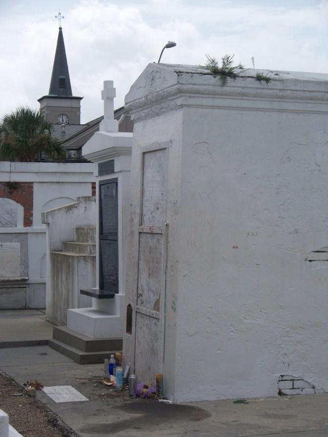 The Voodoo Hoodoo Queen Marie Laveau's grave