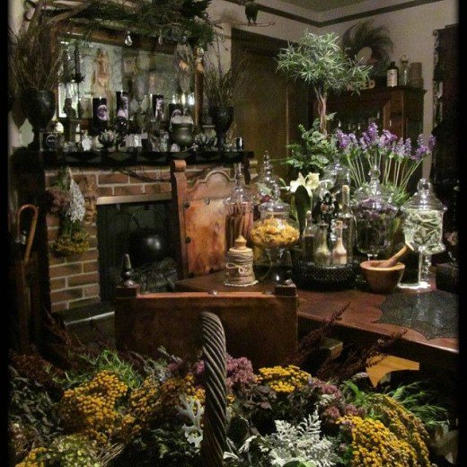Magical herbs and magical spices can be found in the kitchen witch's kitchen.