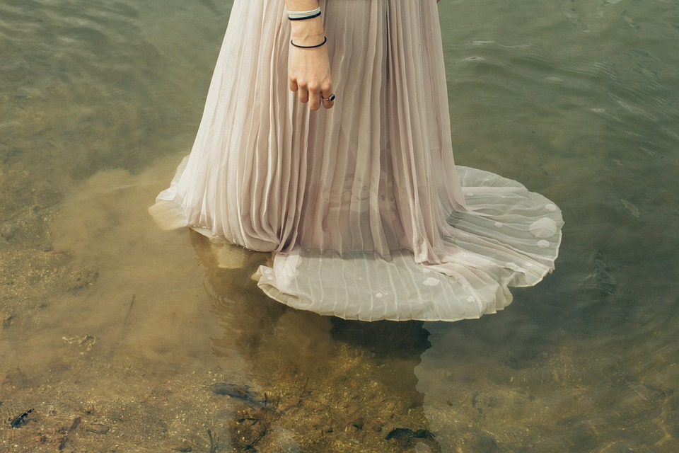 Avalonian Priestess in the water.