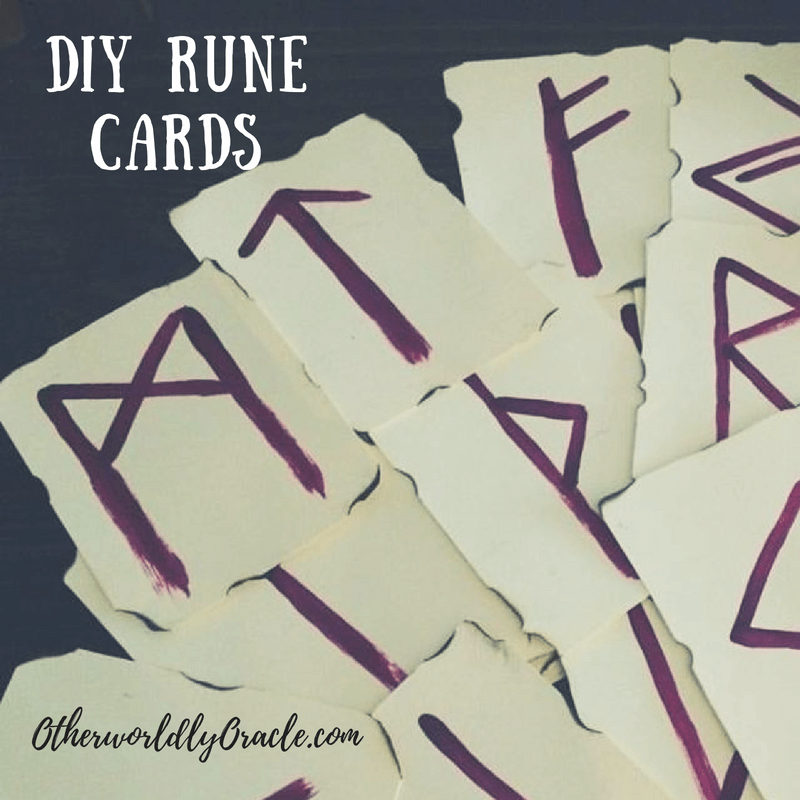 Homemade Rune Cards are a powerful divination tool and easy to make!