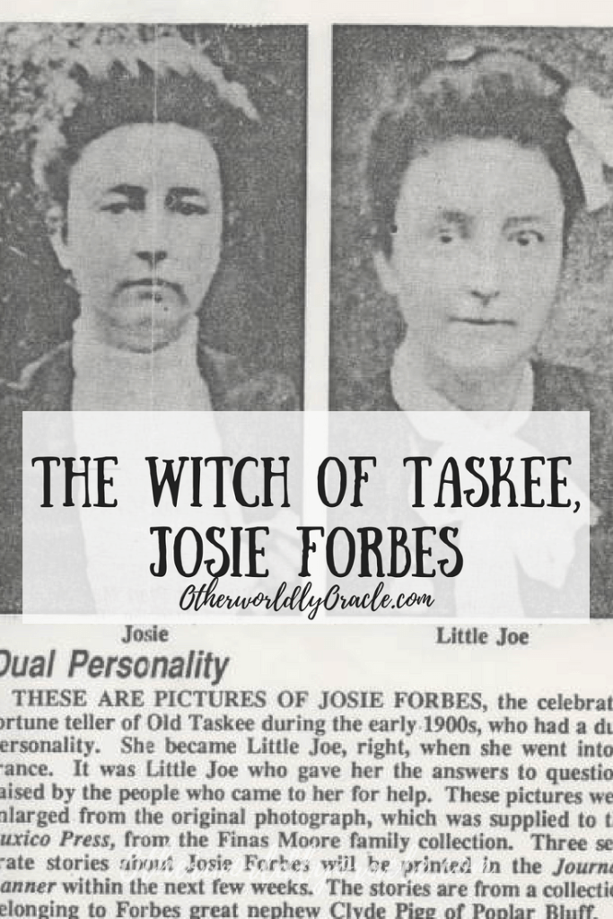Josie Forbes was an American witch in the Ozarks.