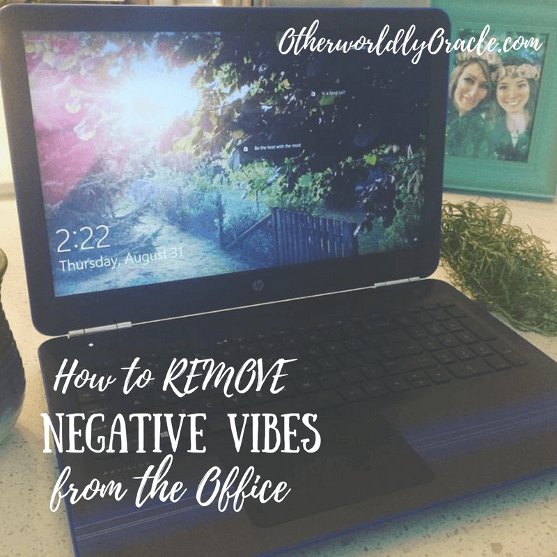 Learn how to remove negative energy from office space. Try my tips here!