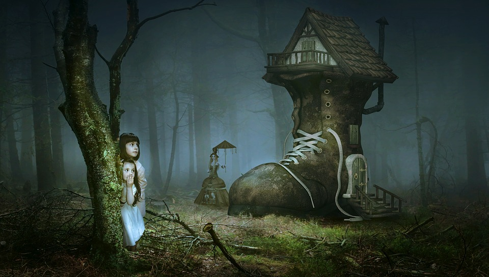 The green children of woolpit were thought to be fairies who lost their way and were found by humans.