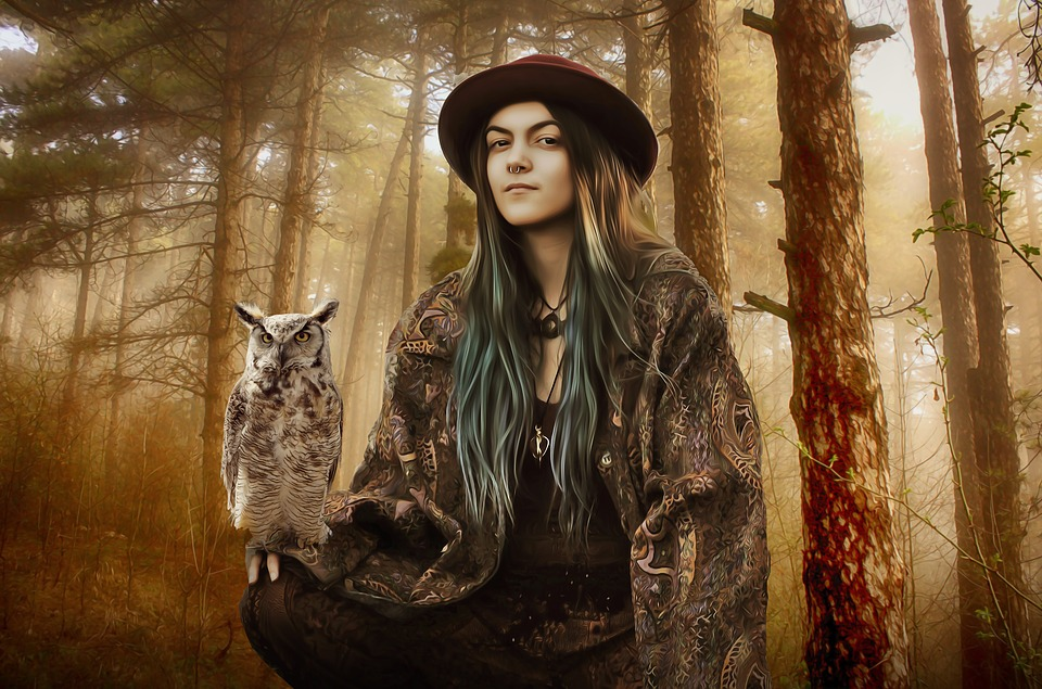 Witches and goddess are both linked to the nocturnal, wise bird the owl.