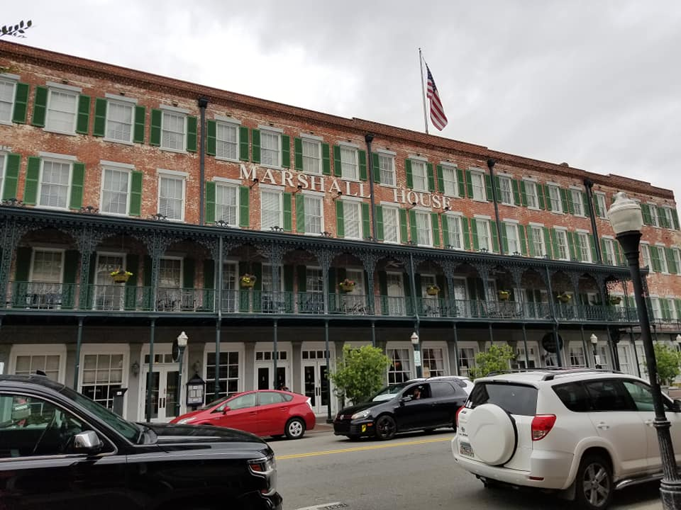 The Marshall House Hotel is a haunted hotel we stayed at during our visit to Haunted Savannah.