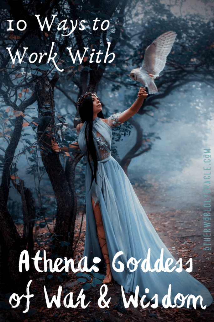 Learn 10 ways to work with the fierce energy of Athena, Goddess of Wisdom and War