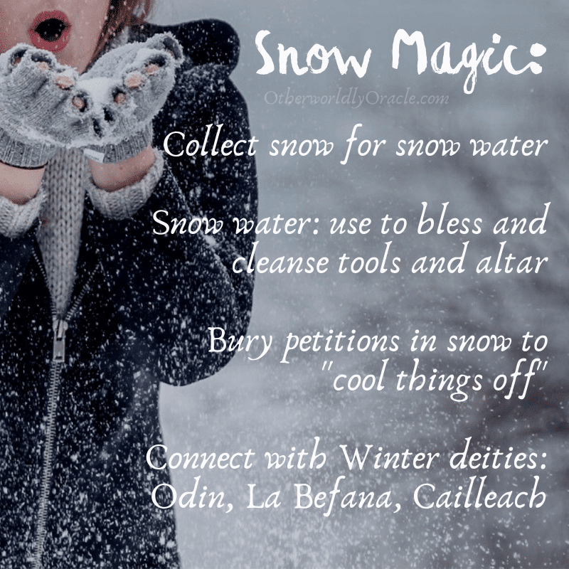Snow Spells: How to Make magick with snow