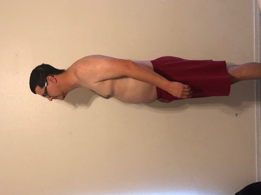 Before picture, side view. Taken 1 year before getting in the best shape of my life