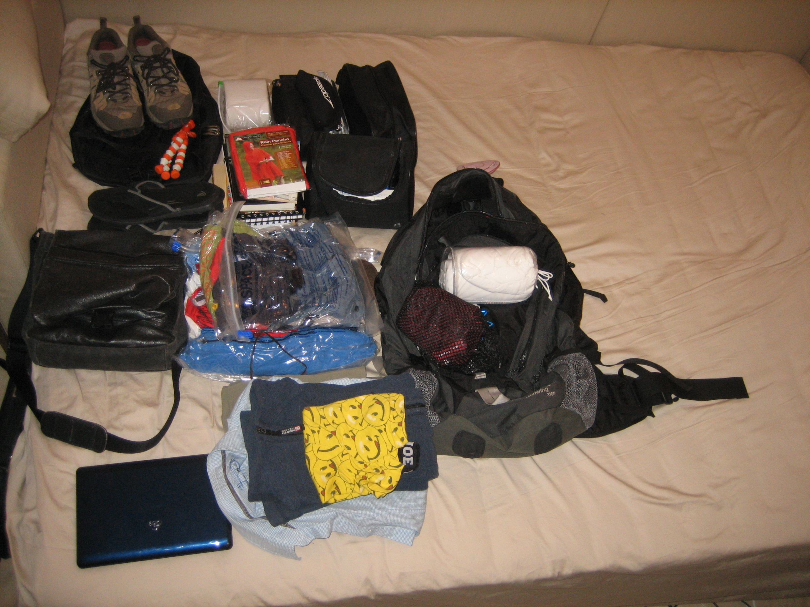 Small stuff went into bags and the clothes into space bags