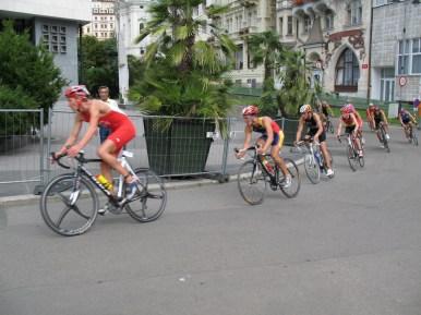 Zu unseren Ehren wurde extra ein Radrennen veranstaltet ;)