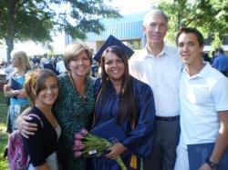 Deni graduation with family pic