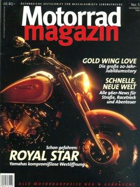 Fonte: Cover Motorradmagazin Austria, November 1995 Cover Motorradmagazin Austria, November 1995