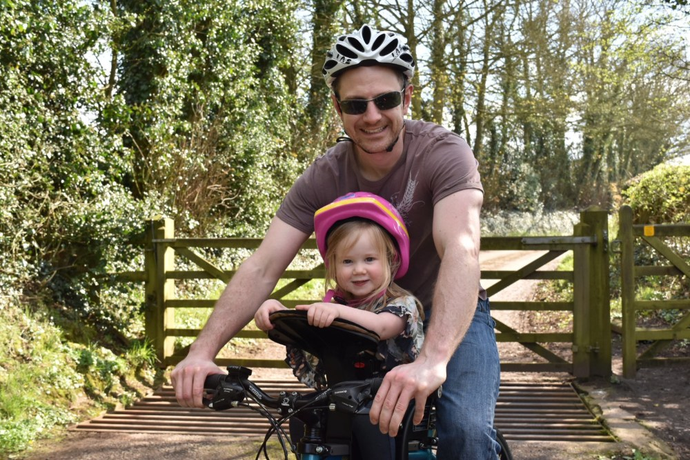 A Family Bike Ride: Weeride Classic Bike Seat REVIEW