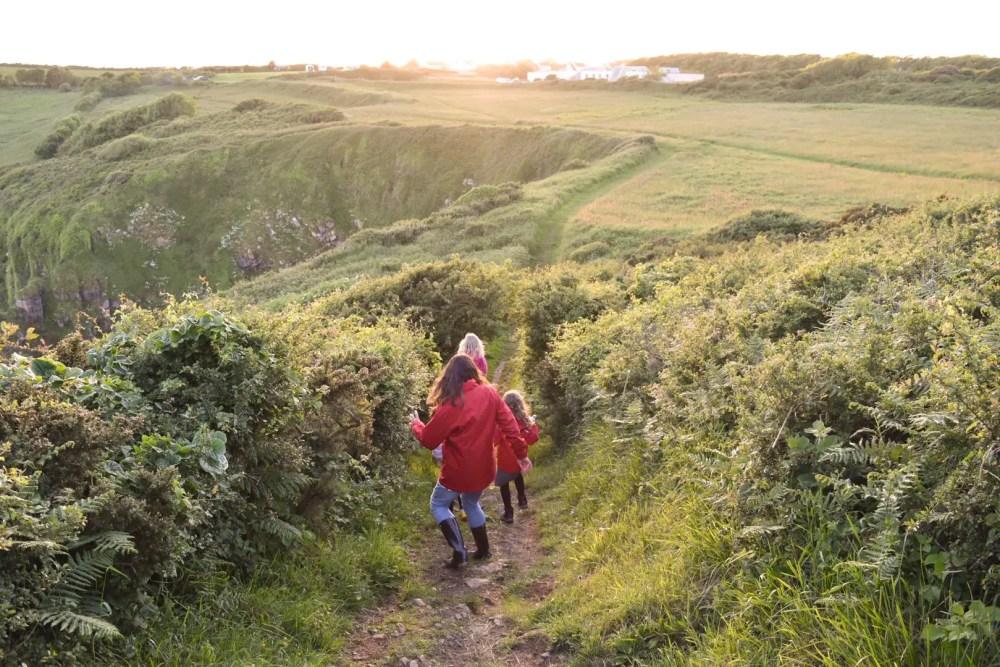 the path to Church doors cove in Pembrokeshire a hidden gem