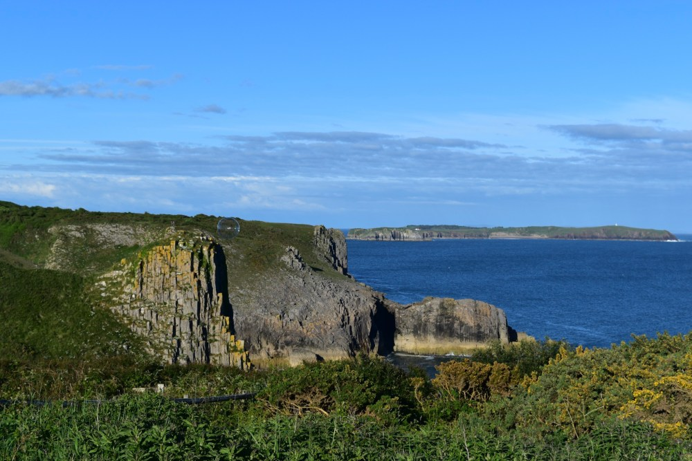 The beautiful coastline of Pembrokeshire with the rugged cliffs and picturesque views