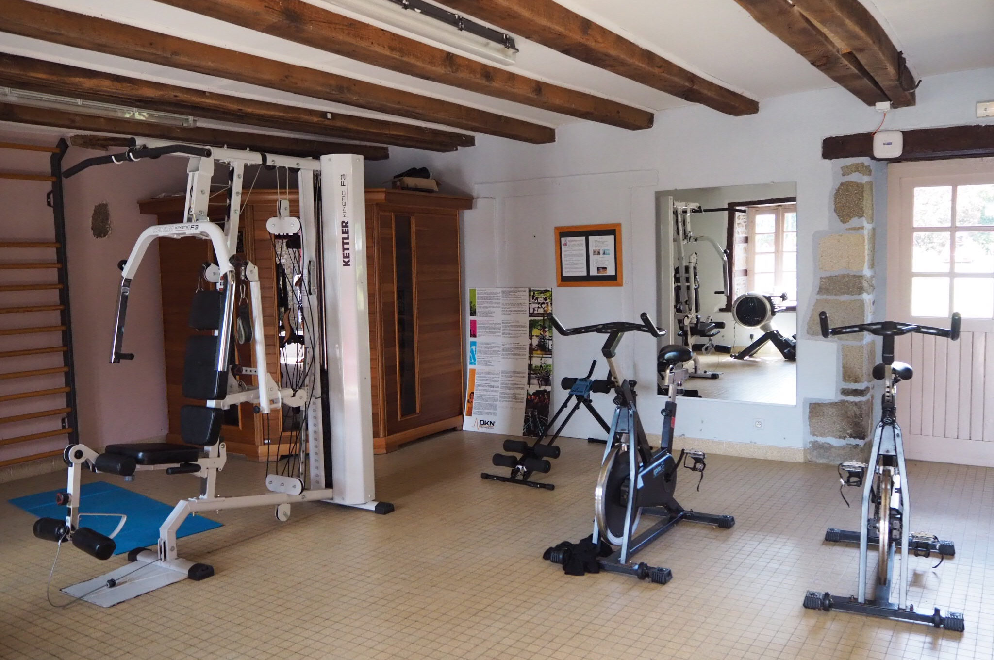 fitness room Camping Domaine du Logis