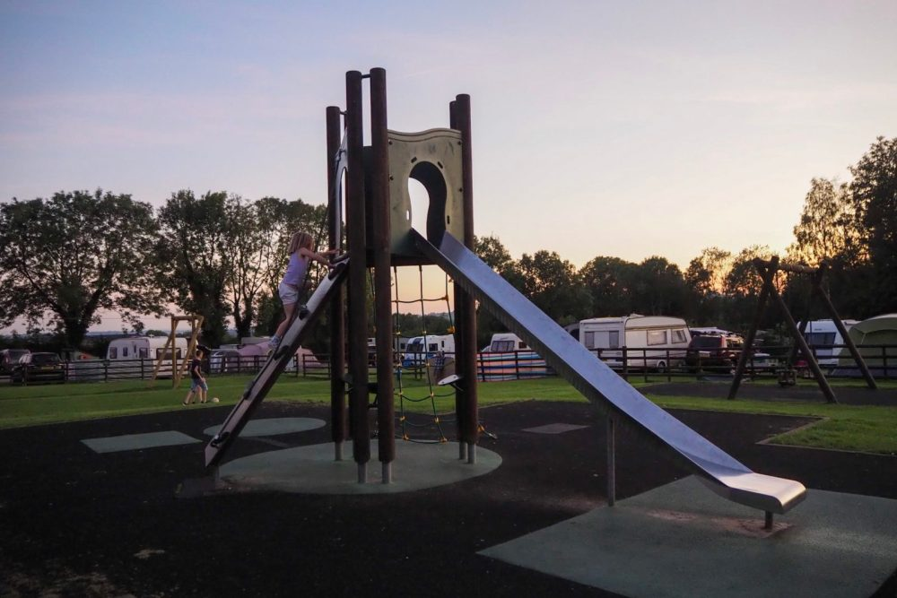 Play park at Ashbourne Heights. Ashbourne heights holiday park review