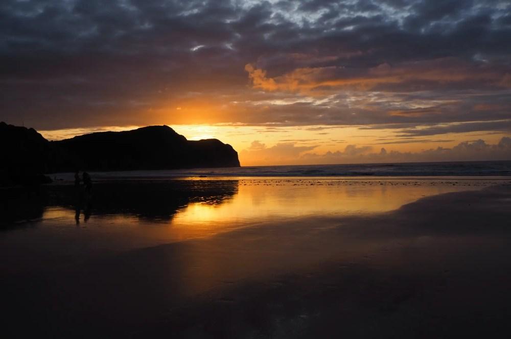 sunset in Asturias Spain