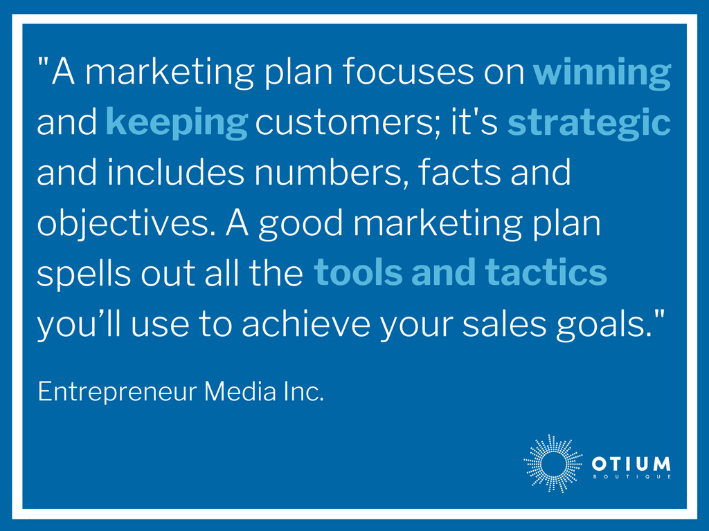 Example Sales And Marketing Business Plan Part Strategy