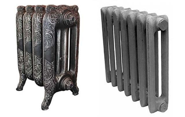 Comparação de baterias de ferro fundido