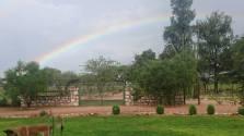 Regen vom Farmhaus