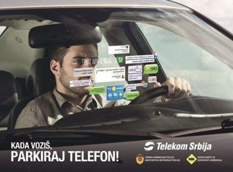 Kada vozis, parkiraj telefon