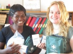 First Aid kits were brought with the donated NSS money
