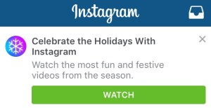 celebrate the holidays with instagram video