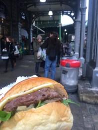 Ostrich Burger from Borough Market