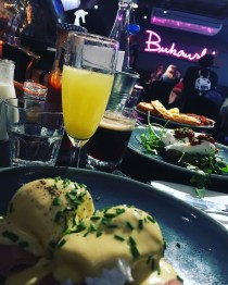 Eggs Benedict & a mimosa from Bukowski Grill in Soho