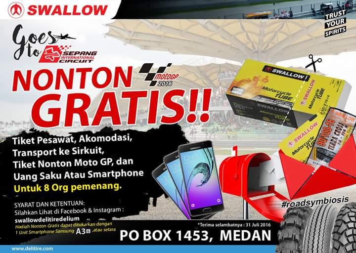 Swallow Tire Goes to MotoGP Sepang-Malaysia 2016, syaratnya mudah kok…!