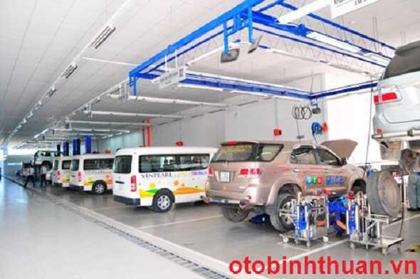 Khu bao duong cua Toyota Nha Trang  otobinhthuan vn
