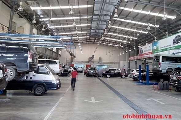 Xuong bao tri xe  tai Toyota Vung Tau otobinhthuan vn