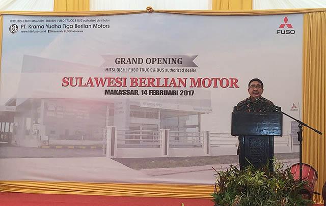 'Tancap Gas', Mitsubishi Fuso Buka Dealer ke-254 di Makassar