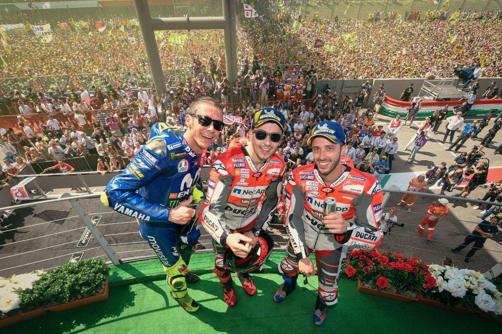 Hasil MotoGP Italia 2018: Ducati Kuasai Podium, Rossi Catat Sejarah