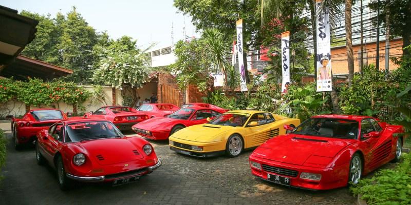 Sembilan Mobil Ikonik Mejeng di 'Ferrari Classiche' Jakarta