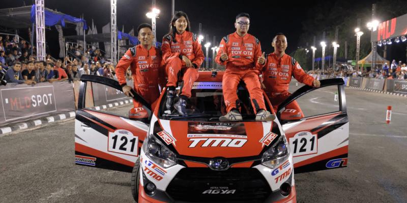 Toyota Team Indonesia Pimpin Klasemen Kejuaraan Gymkhana