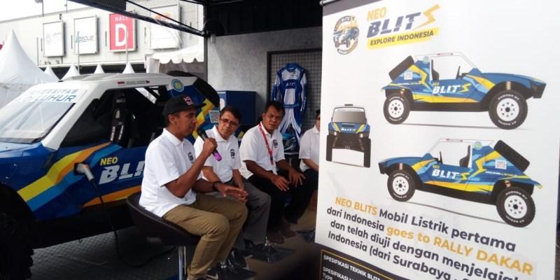 Budi Luhur Pamerkan Mobil Listrik Neo Blits di IIMS 2019