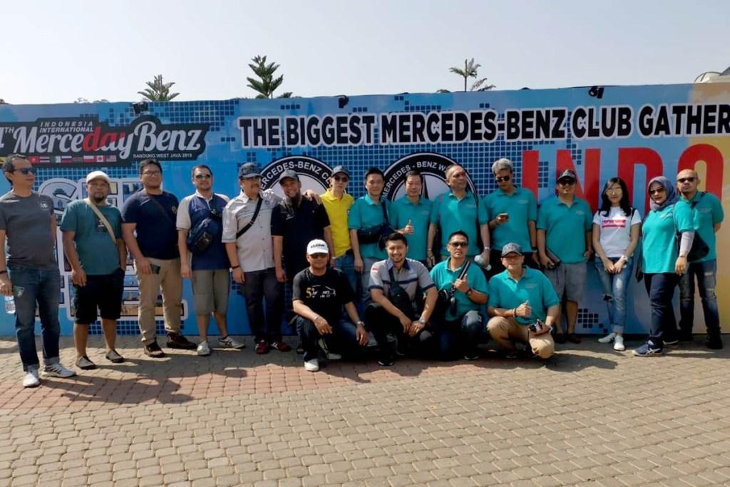 Antusiasnya Member MB W140 CI di Event Merceday Benz