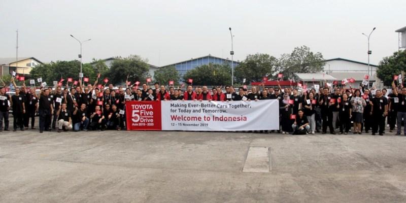 Toyota 5 Continents Drive Asia 2019-2020, Tempuh Jarak 100km