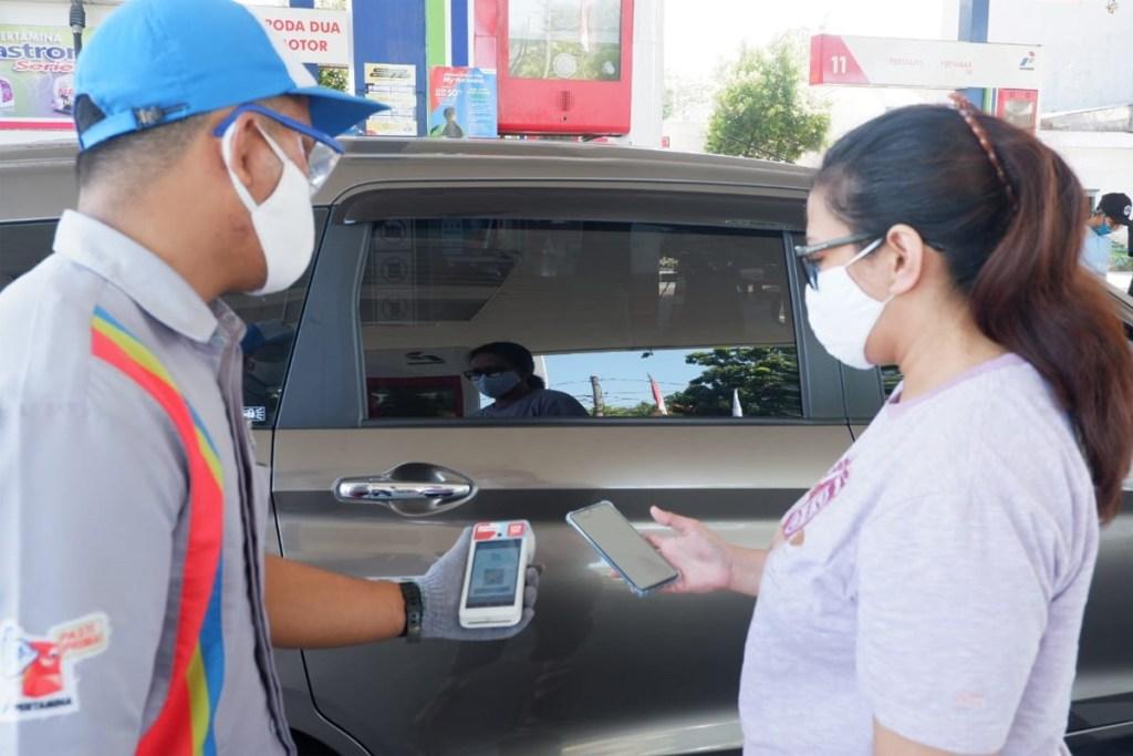 Pertamina Uji Coba Transaksi Non Tunai di Malang